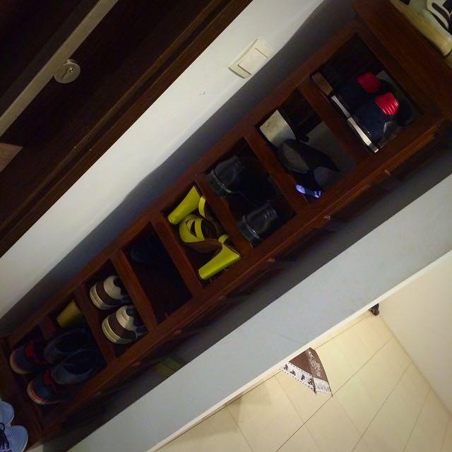 Wood Shoe Shelf PRICE REDUCED