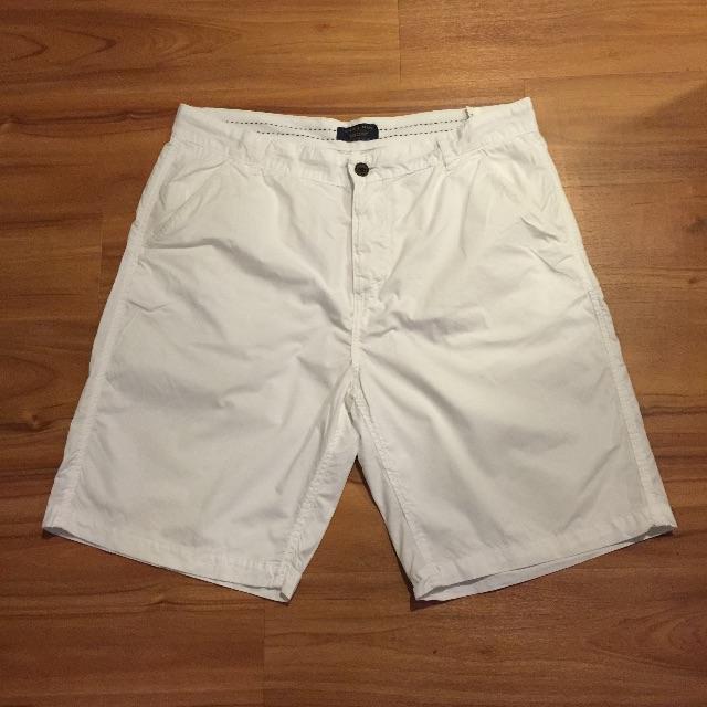 zara白色短褲