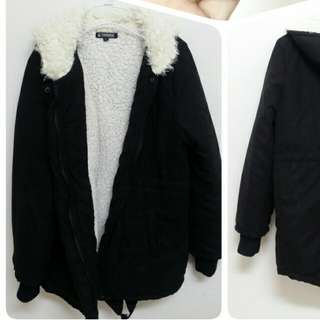 🌹二手🌹厚款羊羔毛燕尾保暖外套