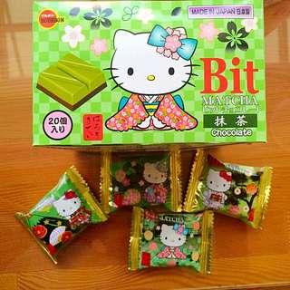 Kitty 迷不要再錯過了🐱北日本bit抹茶巧克力