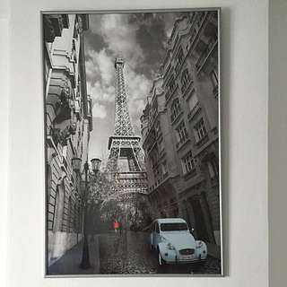 Paris Eiffel Tower Poster Picture With Frame