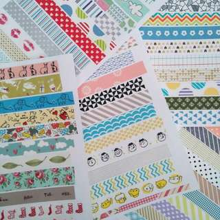 Washi Tape Samples (Updated!)