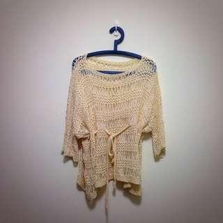 正韓 蕾絲編織上衣