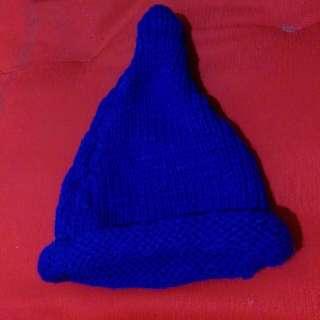 藍色巫師毛帽