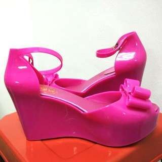 Pink Jelly Wedges ( Size 38 / 7)