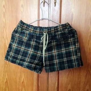 格紋短褲(冬)