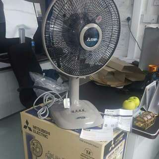 "(RESERVED - 1 Set Remaining) = 12"" Mitsubishi Desk Fan"