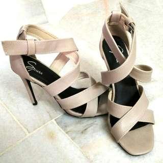 Grey Nude Heel