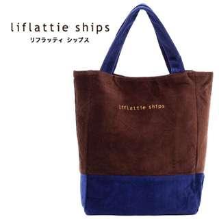 日本燈心絨拚色質感手提包