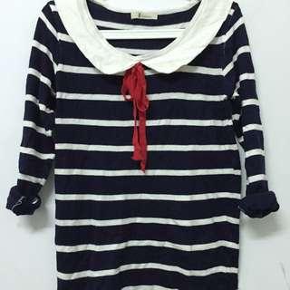 海軍風✨針織橫條上衣