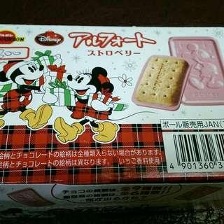 迪士尼草莓夾心餅乾