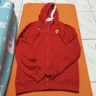 全新 Puma 法拉利系列外套 紅色 男版s號 專櫃買