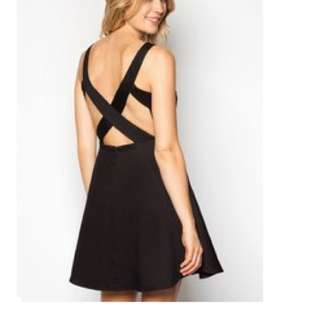 Cross Back Fit And Flare dress By Zalora