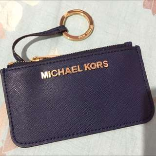 Michael Kors 深藍零錢包