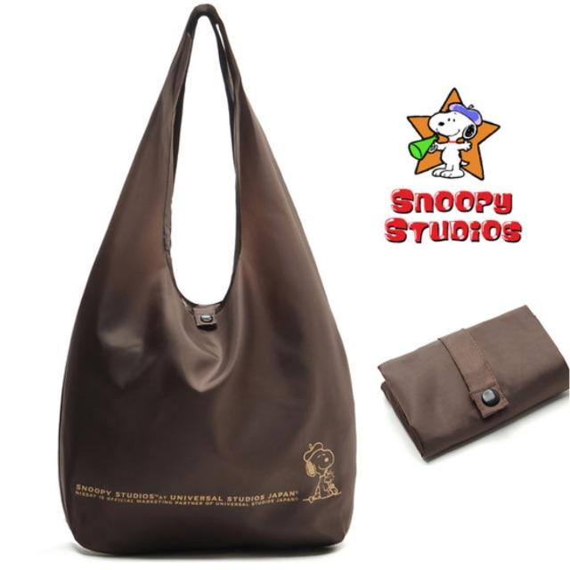 ♥快速出貨♥人氣SNOOPY史努比厚實大容量折疊環保袋/購物袋/手提包