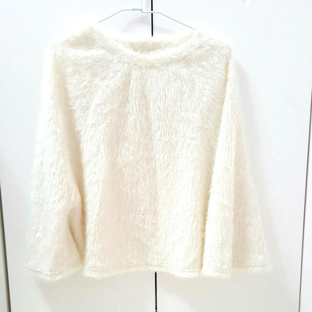 【全新】刷毛斗篷毛衣~當外套也可喲!