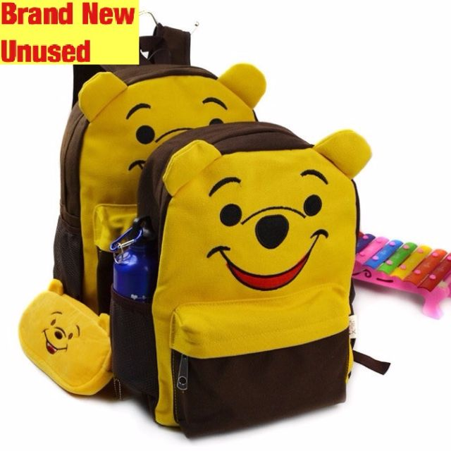 Brand New 3D Winnie Pooh School Bag For SALE! SGD29! With FREE GIFT! Last  Pcs!