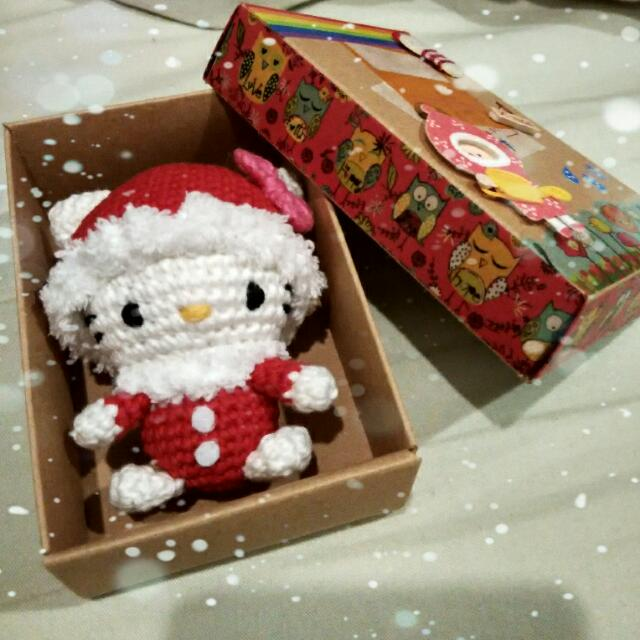 Crochet Santa Kitty