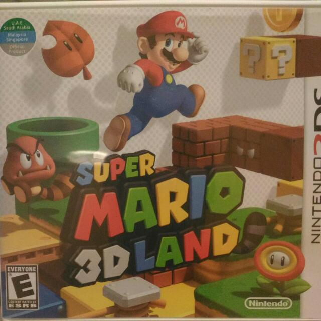 Ds Super Mario 3D Land, Toys & Games on Carousell
