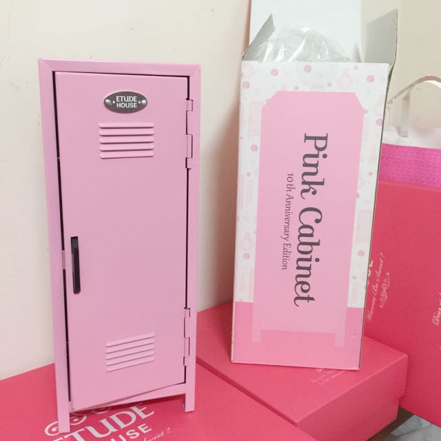 ️Etude House 粉紅化妝箱 化妝櫃