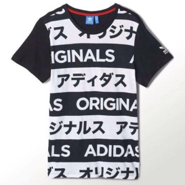 INSTOCK!! Adidas Originals Japanese Typo Tee