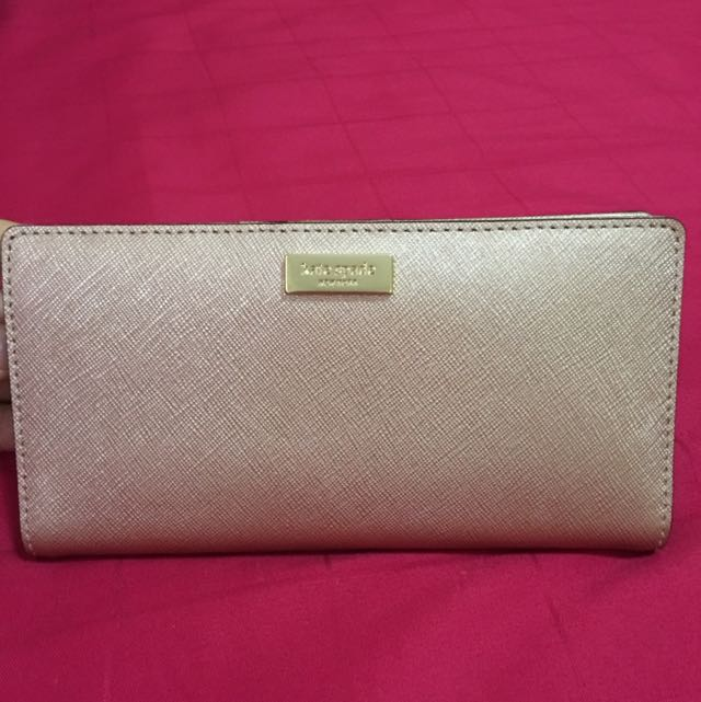7652168026a Kate Spade Newbury Lane Stacy Rose Gold Wallet