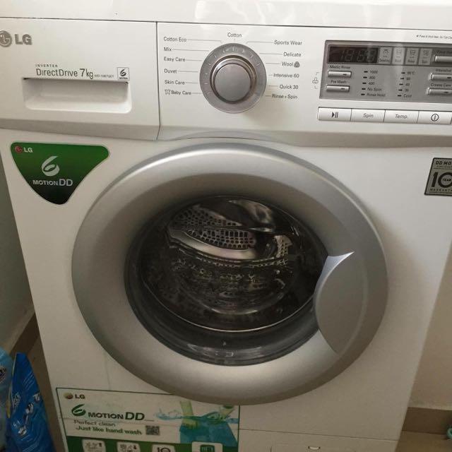 LG Washing machine 7kg With Free Dryer