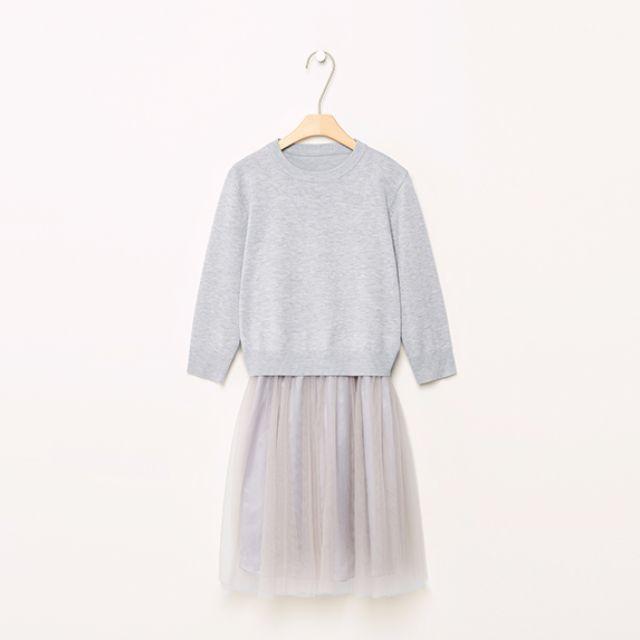 PAZZO 灰色 高質感 紗裙 二手