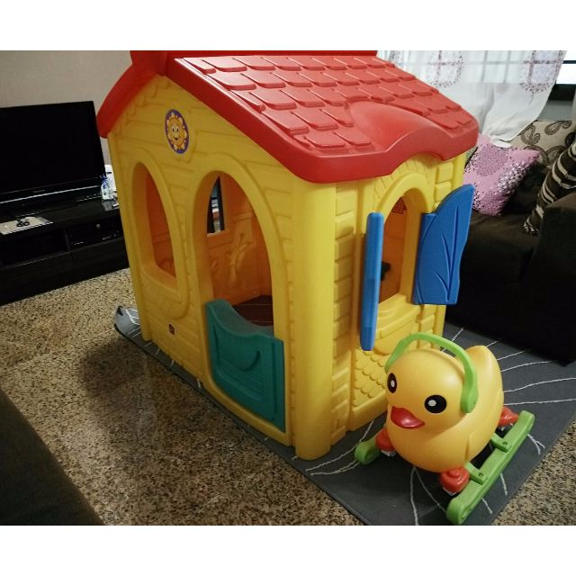 Pre-loved Step 2 Sunshine Playhouse + 4-Wheeler Duck cum rocker