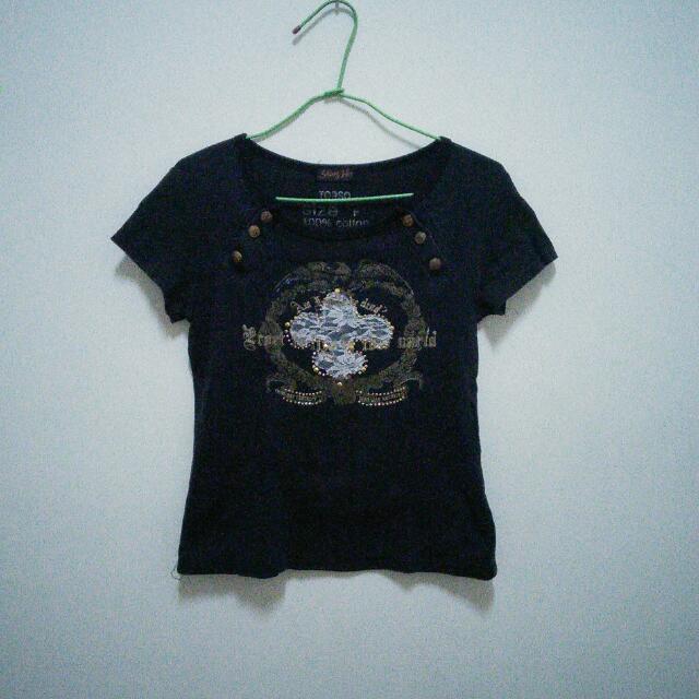 (二手)蕾絲圖騰T恤