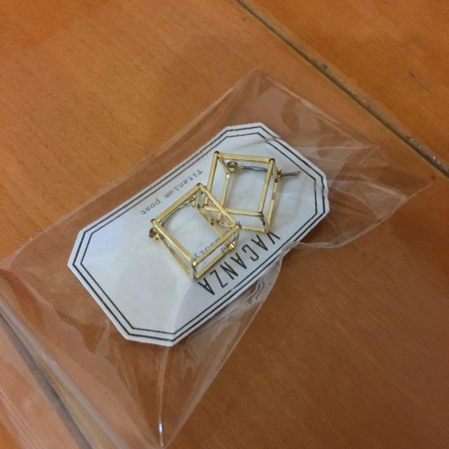 Vacanza 立體 方塊 耳環 聖誕 耶誕 交換禮物