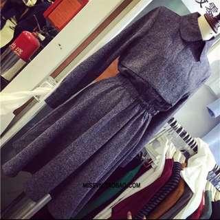 氣質灰色洋裝(全新)