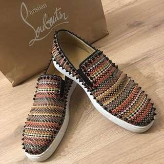 9.5成新 紅底鞋:專櫃正品卯丁編織Christian Louboutin
