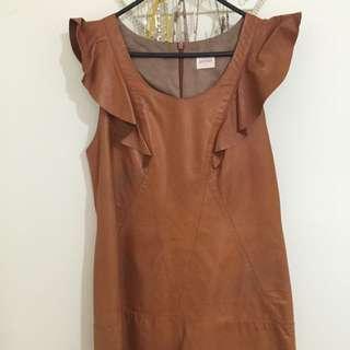 Gorman Tan Leather Dress