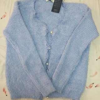 全新針織baby藍外套