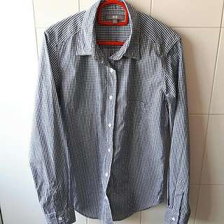 Uniqlo Blue Checkered Long Sleeve Shirt