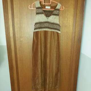Ethnic Brown Dress