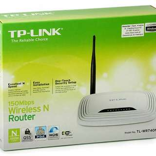 TL-WR740N wireless router  150Mbps for sale PR to $10, Original $20, TP-LINK