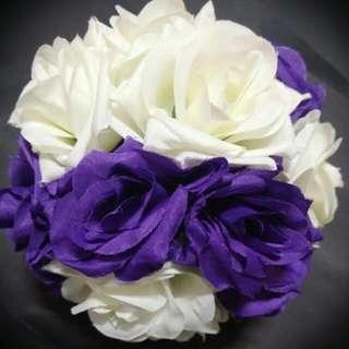 仿真玫瑰花球 婚禮佈置/拍照/派對 必備