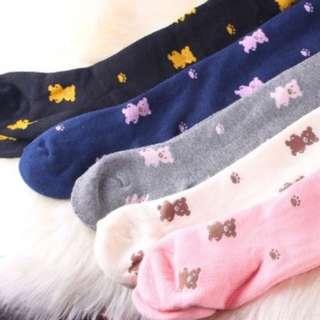 預購。冬。加厚款。熊熊褲襪