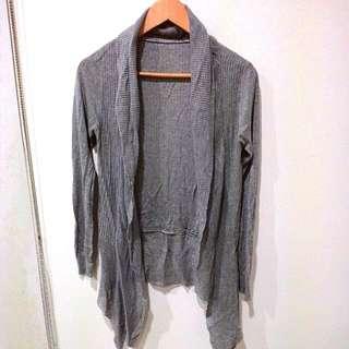 80元 鐵灰色 背心 長袖背心 修身 顯瘦  保存良好