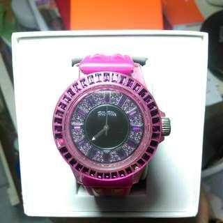 Folli Folli紫色水鑽手錶~