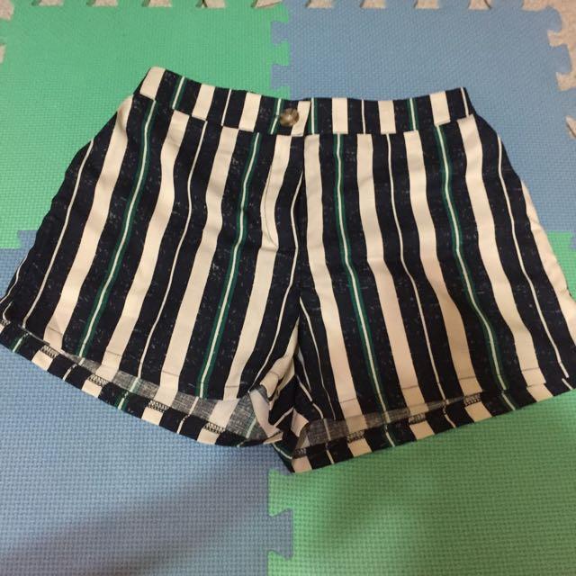 +1元免運費✅全新雪紡條紋短褲