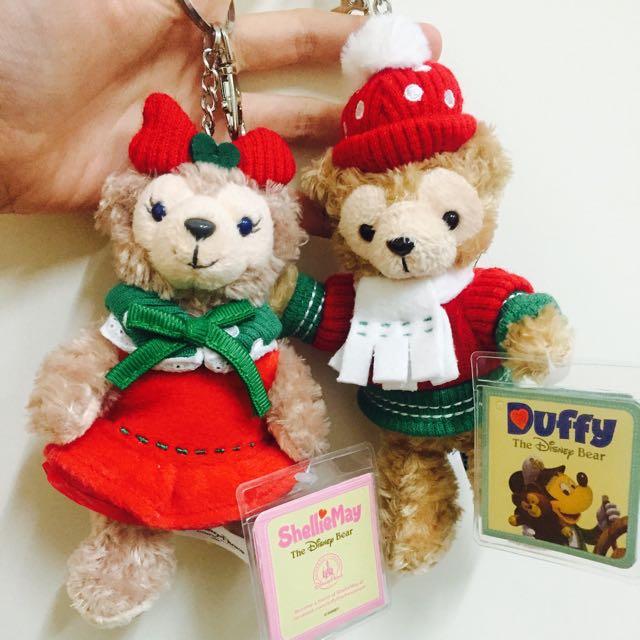 全新🎉香港迪士尼🇭🇰2015聖誕限定版 達菲站姿 鑰匙圈 限定 絕版