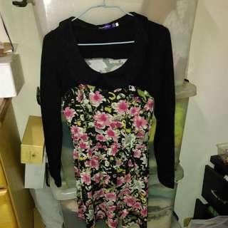 花朵彩繪洋裝