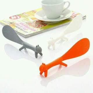 可爱松鼠造型可立式飯匙