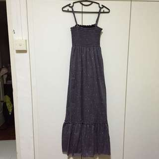 Brand New Long Purple Dress With Small Flowers