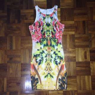 Bodycon Tropical Print Dress