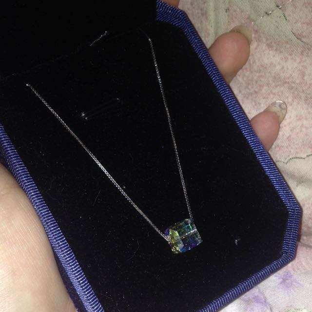 925純銀 施華洛施奇水晶項鍊💎