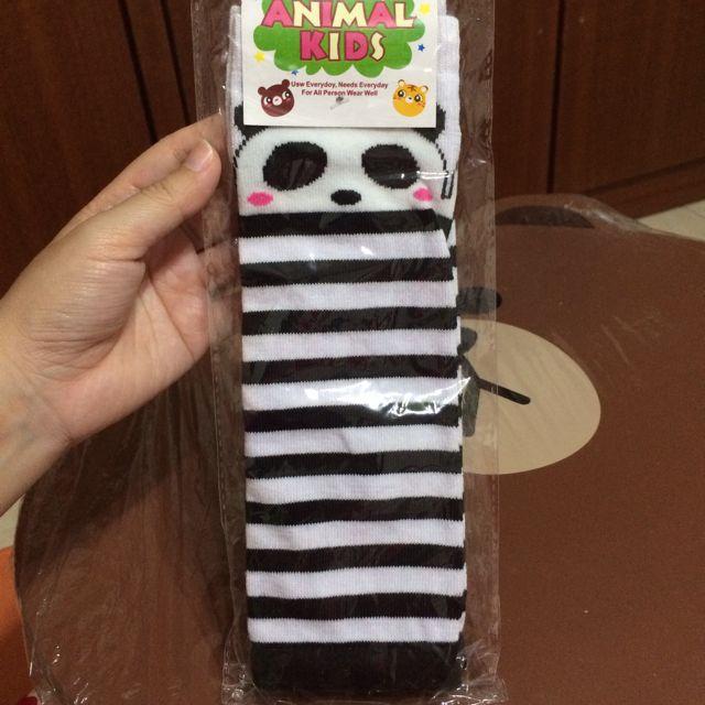 【現貨】兒童襪套護膝襪套-熊貓